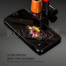 ROYBENS Hybrid 360 ° Cermin Tipis Case Tempered Glass Cover untuk Apple IPhone 7 4.7 Inch Jet Black-Intl