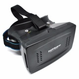 Jual Cepat Rs Taffware Cardboard Vr Box Head Mount Second Generation 3D Virtual Reality Black