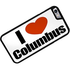 Rubber Case for iphone 6 I Love Columbus region: Ohio, United States - Neonblond - intl