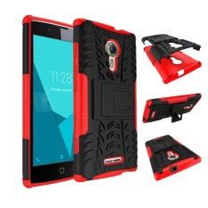 RUGGED ARMOR Alcatel One Touch Flash 2 Soft Case Casing Back Cover Silicone Shockproof Kick Stand Anti Shock