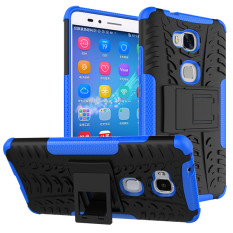 RUGGED ARMOR Huawei Honor 5X GR5 Case Shockproof Casing Cover Softcase Dual Layer Hardcase Stand Mode