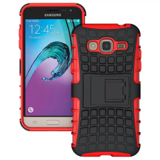 RUGGED ARMOR Samsung Galaxy J3 2016 J320 Case Shockproof Casing Cover Softcase Dual Layer Hardcase Stand Mode