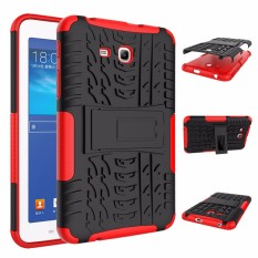 RUGGED ARMOR Samsung Galaxy Tab 3 Lite 7.0 Inch 3V T110 T111 Case Shockproof Casing Cover Softcase Dual Layer Hardcase Stand Mode