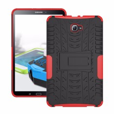 RUGGED ARMOR Samsung Galaxy Tab A 2016 A6 10.1 Inch SPEN P580 P585 Case Shockproof Casing Cover Softcase Dual Layer Hardcase Stand Mode