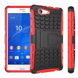 Jual Beli Online Rugged Armor Sony Xperia Z3 Compact Mini Docomo 4 6 Inch Case Shockproof Casing Cover Softcase Dual Layer Hardcase Stand Mode