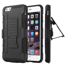 Rugged Hard Full Body Protective Clip Case Cover For Iphone 6 / 6S- Black