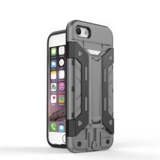 """Ruilean Dual Layer Case untuk Apple untuk IPhone 7 4.7 """"Tugas Berat Tempat Kartu Hybrid"""