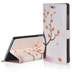 RUILEAN Flip Leather Case untuk HTC Desire 10 Pro Maple Tree Dompet Slot Kartu Kickstand Cover-Intl