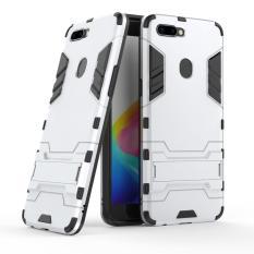 RUILEAN OPPO R11s Plus Case, Dual Layer Iron Man Armor Case Hardcase Stand Cover untuk OPPO R11s Plus (Seperti Yang Ditunjukkan)