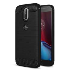 RUILEAN Kasar Baja Kasus Penutup untuk Motorola MOTO G4/G4 Ditambah Serat Karbon Tabah Drop