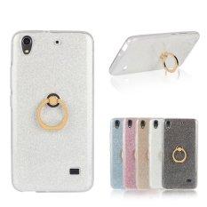 RUILEAN TPU Case untuk Huawei Honor 4 Play Fleksibel Soft Gel Cover Mengkilap Kembali dengan Cincin Grip/Stand Holder Putih-Intl