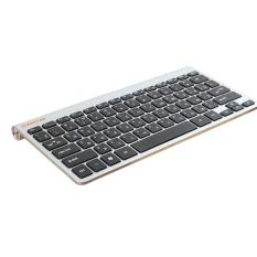 Russian Letter Ultra Slim 2.4G Nirkabel Keyboard untuk MACBOOK, LAPTOP, TV BOX Komputer PC, Smart TV dengan USB Dongle-Intl