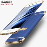 Beli Rzants Untuk F3 【Fashion Logam Bat Menghias Casing 】 Mewah Ultra Tipis Shockproof Hard Back Case Cover Untuk Oppo F3 Intl Online