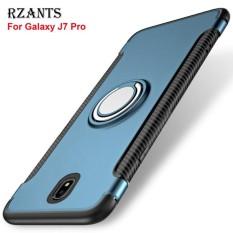 Rzants untuk  J7 Pro 360 Derajat Rotasi dengan Cincin Mobil Pemegang Shockproof Case Cover untuk  Galaxy J7 Pro-Intl
