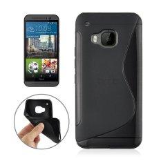 S Line Kedua Sisi Anti-slip Frosted TPU Pelindung Case untuk HTC One M9 (Hitam)-Intl