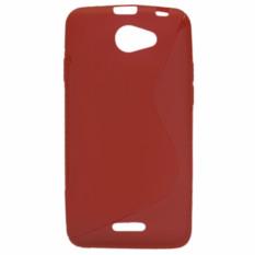 S Line fleksibel pelindung TPU Case cover untuk HTC Desire 516 D516w merah