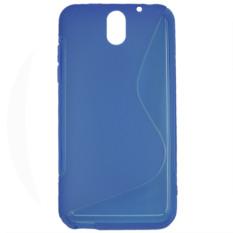 S Line Fleksibel Pelindung TPU Case Cover For HTC Desire 610 Biru