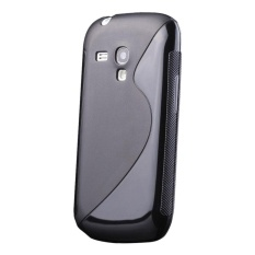 S-Line Shockproof Slim Heavy Duty Soft Rubber Cover TPU Silicone Shell Case for Samsung Galaxy S3 Mini - intl