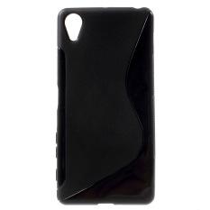 S-shape TPU Cover Shell untuk SONY Xperia X Performance (Black)-Intl