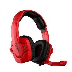 SADES 1537822 SA-901C Kuat Bas Lol Cf Profesional Game Komputer Headphone dengan Mikrofon, Merah-Internasional