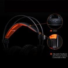 Toko Sades A6 Headphone For Game With Usb Mikrofon Stereo Headset Gaming Profesional Di Atas Telinga With Membawa Kebisingan Pembatalan And Efek Suara Indah Musik Earphone Hitam With Jeruk For Desktop Laptop Notebook Dekat Sini