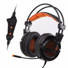 Diskon Sades A6 Headset Gaming Headphone With Microphone Hitam Orange Branded