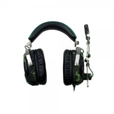 SADES A90 Stereo Gaming Headphone Headset 7.1 USB Sekitarnya Suara dengan MIC 6 Breathing LED Lampu Kamuflase