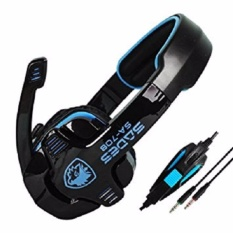 Sades G-Power Sa-708 Headset Gaming - Biru Hitam With Microphone By Jet Store