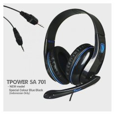 Jual Sades Gaming Headset Sa 701 T Power Biru Dki Jakarta Murah