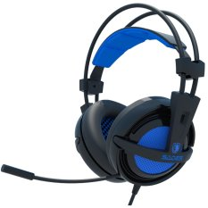 Diskon Sades Headset Gaming Locust Sa 704 Usb 2 Soundcard And Microphone Biru