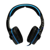 Jual Sades Headset Gaming Wolfang Sa 901 High Quality Full Bass Biru Termurah