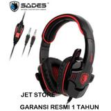 Sades Sa 708 Gpower Headset Gaming Merah East Kalimantan