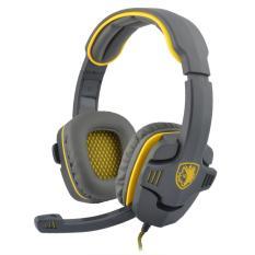 SADES SA-708 Stereo Headset With Mikrofon Komputer Game And Terpencil (Kuning)