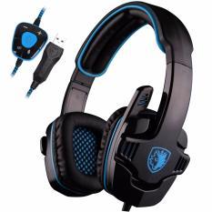 Sades SA-901 Headset Gaming Headphone with Microphone - Hitam / Biru