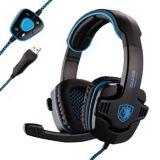 Beli Sades Sa 901 Wolfang Gaming Headset 7 1 Soundcard Hitam Biru Nyicil