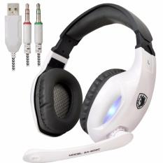 Sades Sa 902C Headset Gaming Headphone With Microphone Putih Diskon Dki Jakarta