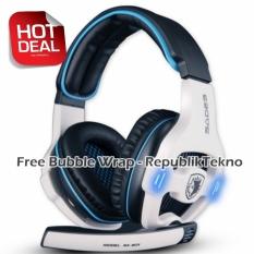 Cara Beli Sades Sa 903 Headset Gaming Putih 7 1 Channel Sound Effect Usb