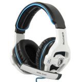 Harga Sades Sa903 7 1 Stereo Hi Fi Headphone Bas Yang Dalam Permainan Pc Usb Headset With Mikrofon Putih Hitam Oem Baru