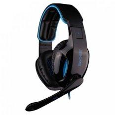 Beli Sades Snuk Sa 902 Headset Gaming Usb 2 7 1 Channel With Microphone Biru Nyicil