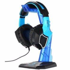 Review Terbaik Sades Universal Gaming Headphone Hanger Display Tempat Gantung Headset Stand Earphone Holder Professional Gantungan Peralatan Aksesoris Audio Video Cocok Untuk Di Meja Komputer Desk Stands Detachable Design Unik Hitam Biru