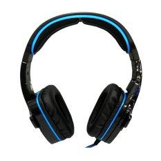 Harga Sades Wolfang Sa 901 Headset Gaming High Quality Bass Biru Termurah