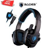 Review Terbaik Sades Wolfang Sa 901 Original Headset Gaming High Quality Bass With Sound Card Hitam Usb 2 Headphone With Microphone