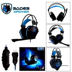 Toko Sades Xpower Sa 706 Headset Gaming Biru Lengkap