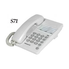 Sahitel S71 Telephone Single Line Telepon - Putih setara dengan Alcatel T22