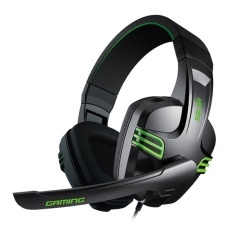 SALAR KX101 Gaming Headset Super Bass dengan MIC Mendukung Hands-free Panggilan Kontrol Suara untuk Pemain Game (Hitam) -Intl