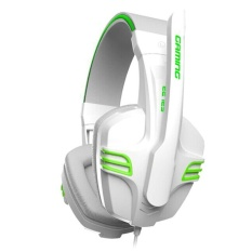 SALAR KX101 Gaming Headsets Super Bass with Mic Support Hands-freeCall Voice Control for Game Player (White) - intl
