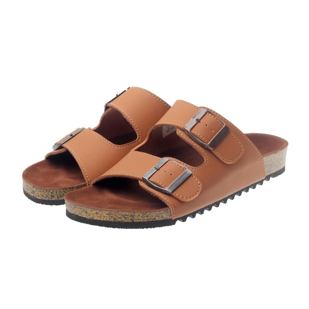 Top 10 Salvo Fashion Pria Sandal Sandal Flat Sandal Pria Sandal Gunung Sendal Sendal Pria Sendal Gunung Pc02 Tan Online