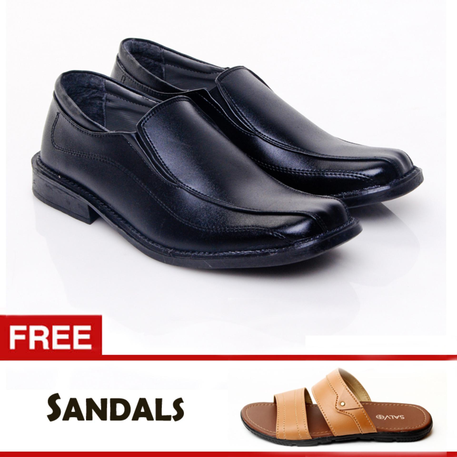 Jual Salvo Sepatu Formal Kf817 Free Sandal L01 Tan Murah