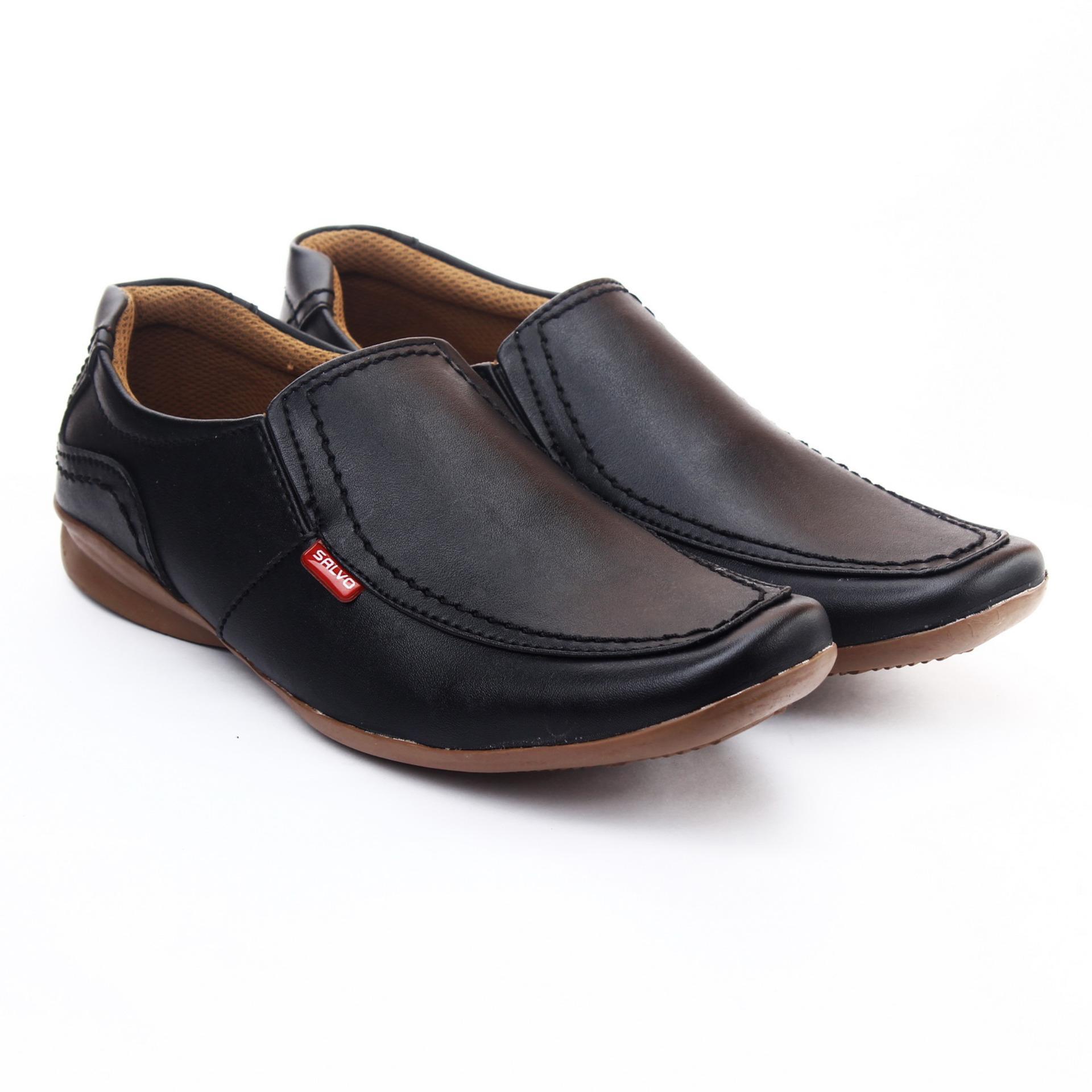 Salvo / fashion pria / sepatu / sepatu pria / sepatu cowo / sepatu cowok / sepatu formal pria / sepatu kerja / sepatu formal pria / sepatu kerja pria /  sepatu kulit / sepatu kulit pria / sepatu formal pria / sepatu murah / sepatu pria murah CA07-Hitam