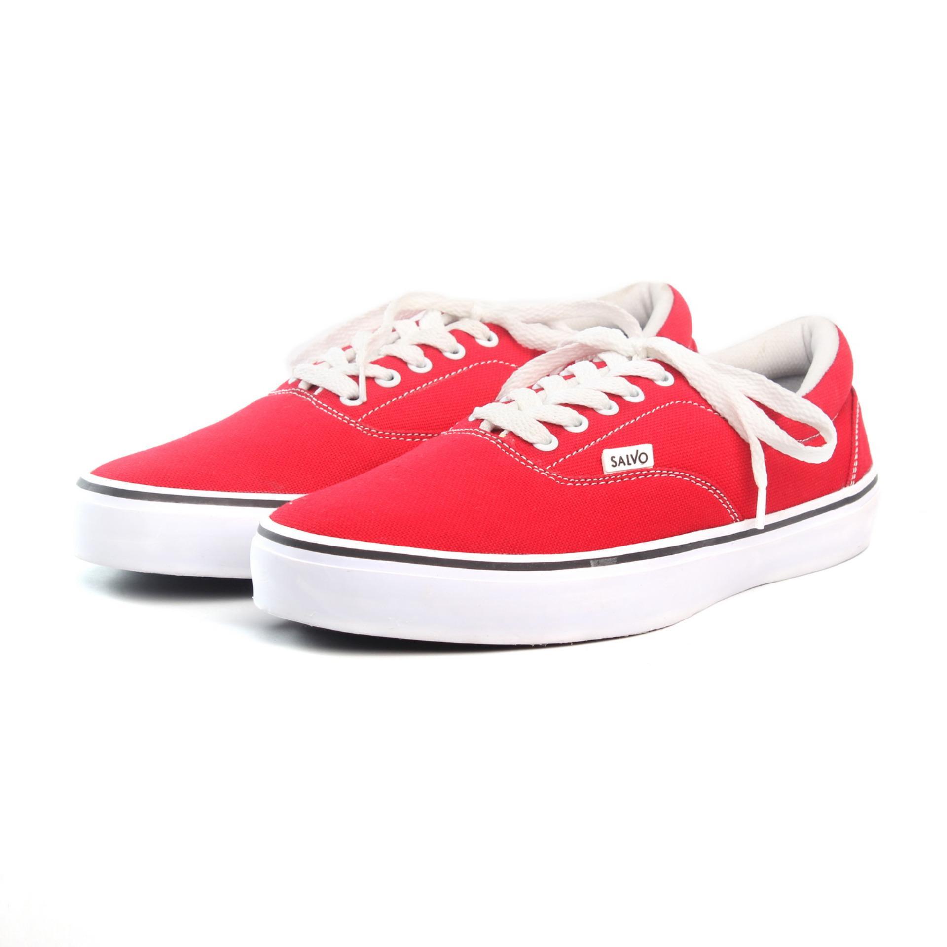 Beli Salvo Fashion Pria Sepatu Sepatu Pria Flat Shoes Flatshoes Sepatu Casual Sepatu Casual Pria Sepatu Cowo Sepatu Cowok Sepatu Flat Sepatu Murah Sepatu Pria Casual Sepatu Pria Murah Sepatu Sneakers Sepatu Sneakers Pria A03 Merah Salvo